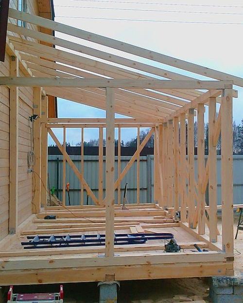 Как построить веранду к дому своими руками пошаговая 431