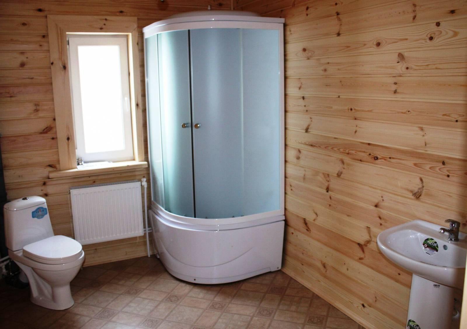 Душевая комната в деревянном доме своими руками строительство