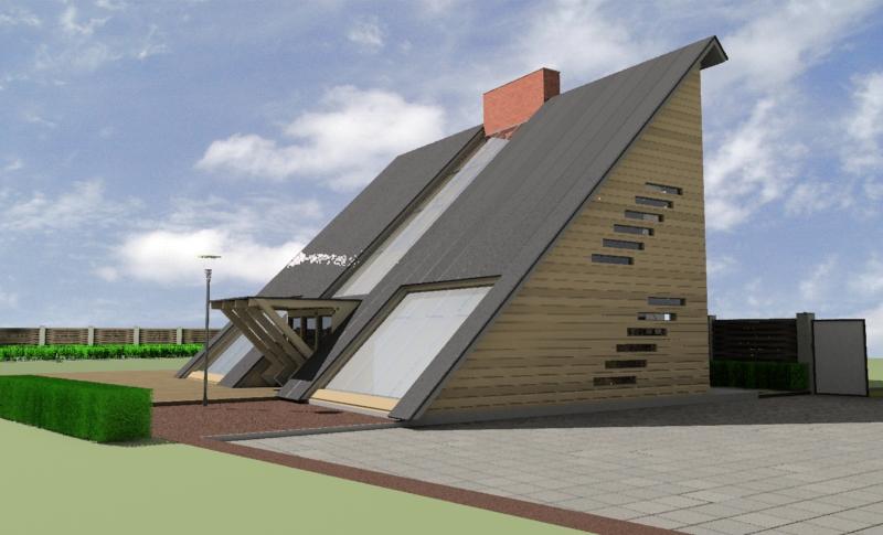 Треугольный дом.